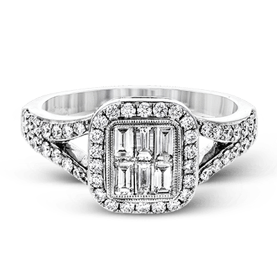 Simon G.   18k white  right hand ring