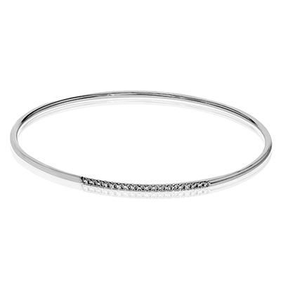 Simon G.   18k white  bangle