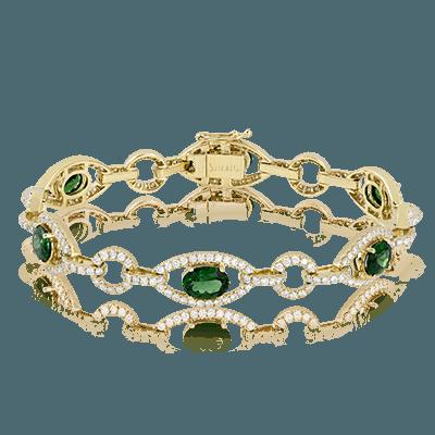 Simon G.  oval 18k white  color bracelet