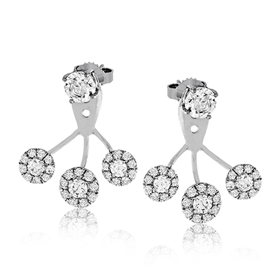 Simon G.  round 18k white  earring