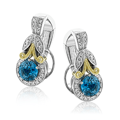 Simon G.  round 18k 2t Semi color earring