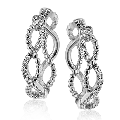 Simon G.   18k white  hoop earring