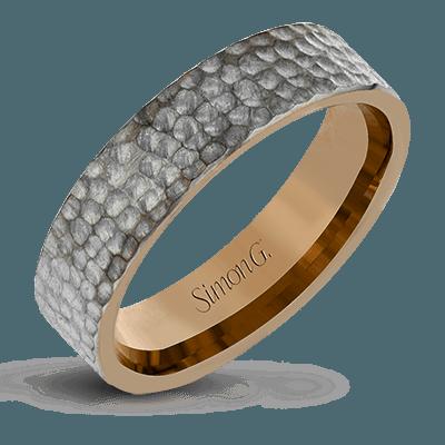 Simon G.   14k white  men ring