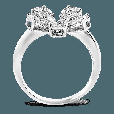 Simon G. built in  18k white  right hand ring