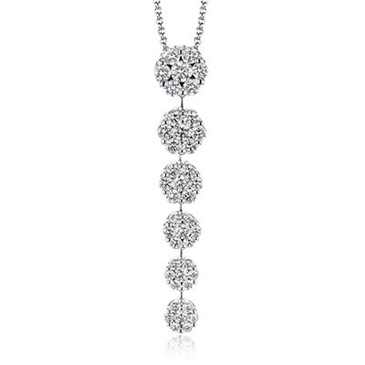 Simon G.   18k white  pendant
