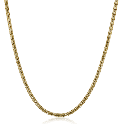 Simon G.   14k white  gent necklace