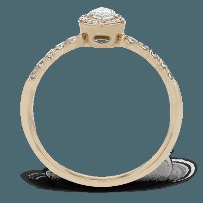 Simon G.  marquise 18k white Set wedding set