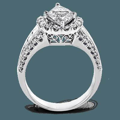 Simon G.  marquise 18k white Semi engagement ring