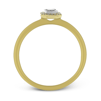 Simon G.  emerald 18k white Semi engagement ring