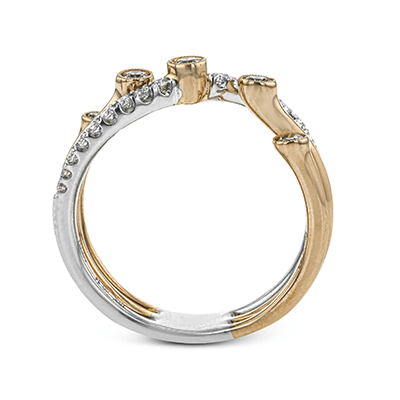 LR1191 RIGHT HAND RING 18K BAND .34D