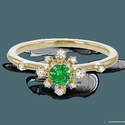 Simon G.  round 18k white  color ring