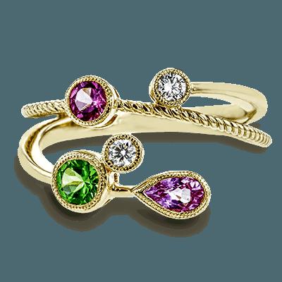 Simon G.   18k white  color ring