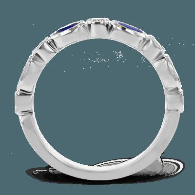 Simon G.  oval 18k white  color ring