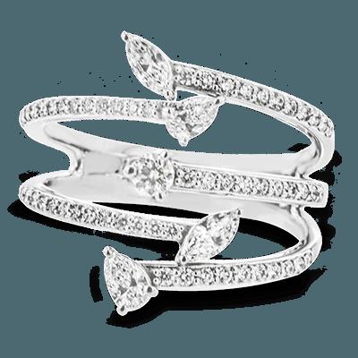 Simon G.   18k white  right hand ring