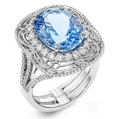 MR2730 Semi 18K RING 1.03D 5.96AQUA