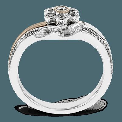 Simon G.   18k white-rose  right hand ring