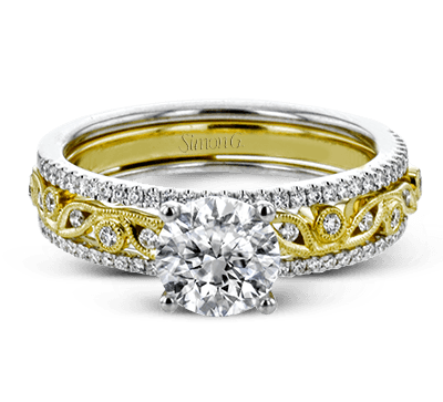 MR3058 WEDDING SET 18K SET .08D .22YD