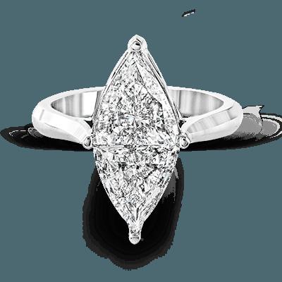 Simon G. built in marquise 18k white Semi engagement ring