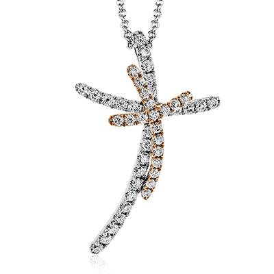 Simon G.   18k white  cross pendant