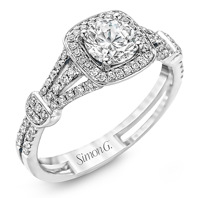 TR418-D ENGAGEMENT RING 18K RING .26D