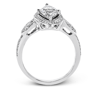 Simon G. basket marquise 18k white Semi engagement ring