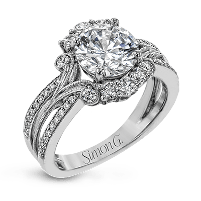 TR715 ENGAGEMENT RING 18K RING .58D